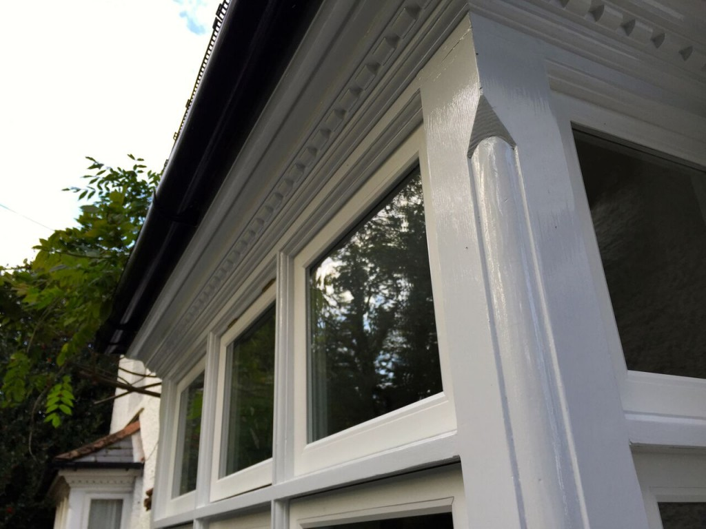 Priory Road, Bagshot after a full refurbishment and new double-glazed casement sashes are installed