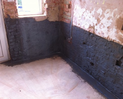 Image showing damp proof work being done