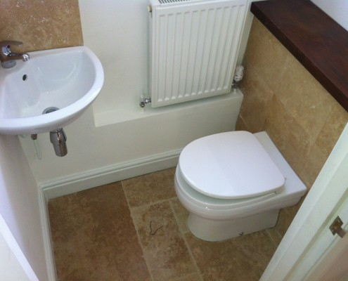 After image of the guest toilet